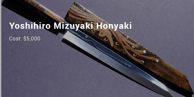 8 most expensive priced kitchen knives list expensive