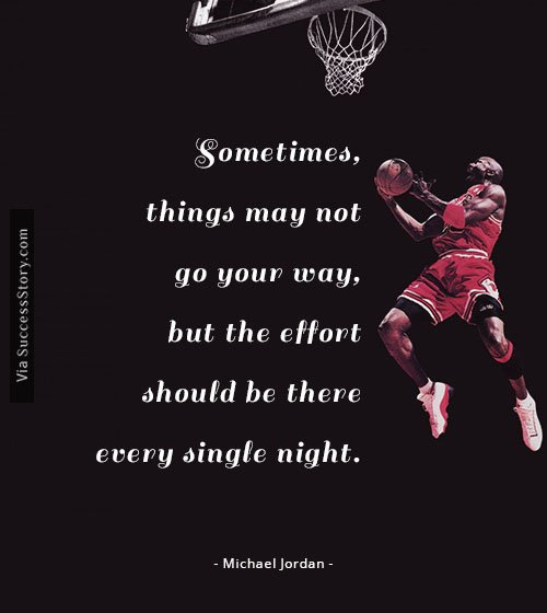 michael jordan a success story A story about one of the first times michael jordan prevailed from failure.