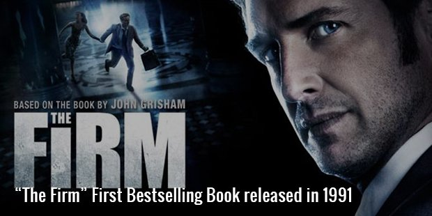 """the firm"" bestselling book released in 1991"