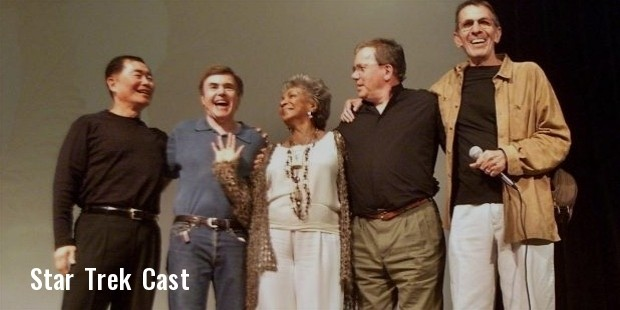 george takei, walter koenig, nichelle nichols, william shatner, and leonard nimoy