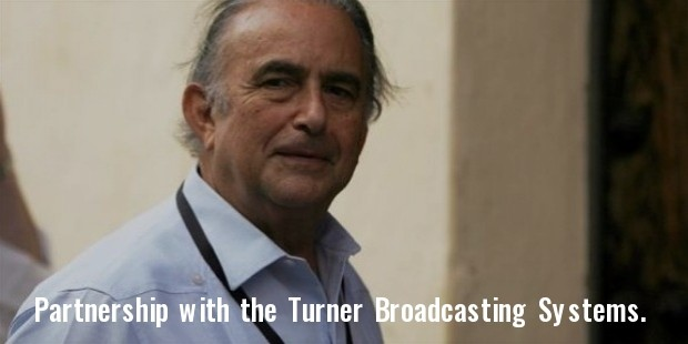 partnership with the latin american division of the turner broadcasting systems