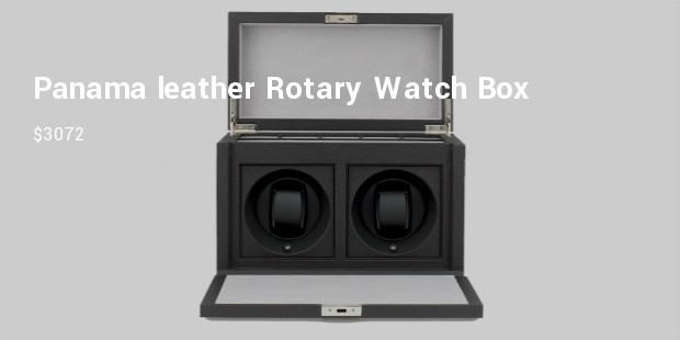 watch boxpanama leather rotary watch boxsmythson