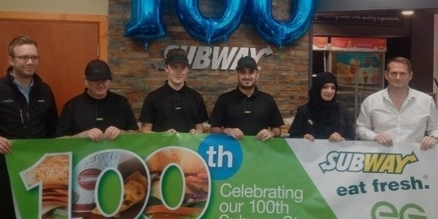 100th store of subway