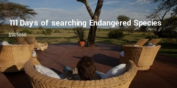 111 days of searching endangered species around the world