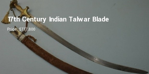 17th century indian talwar blade