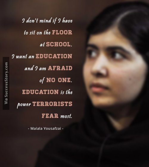 Activism Quotes Interesting 48 Most Inspiring Quotes From Education Activist Malala Yousafzai