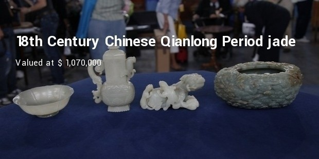 18th century chinese qianlong period jade collection