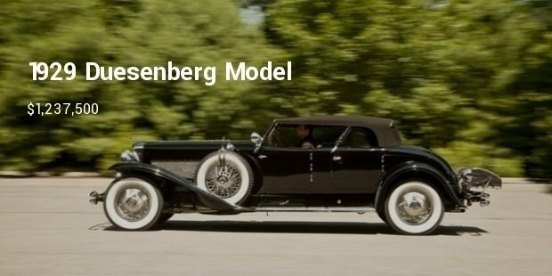 1929 duesenberg model