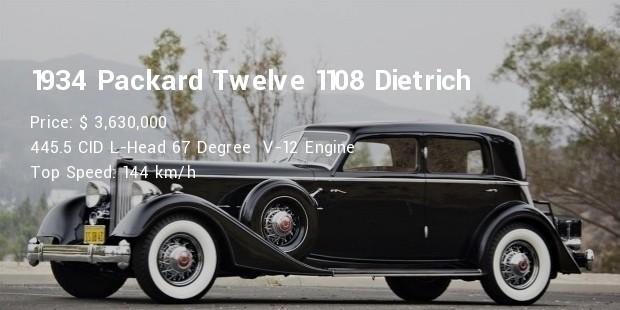 1934 packard twelve 1108 dietrich sport sedan specs