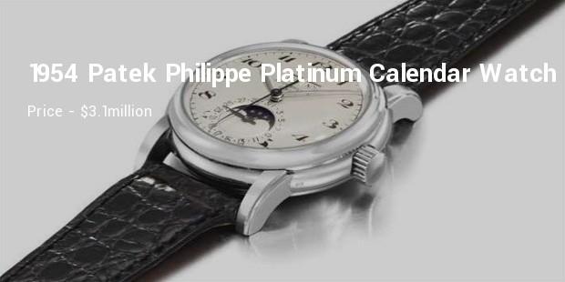 1954 patek philippe platinum perpetual calendar wristwatch