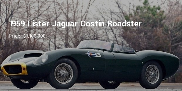 1959 lister jaguar costin roadster   $1,100,000