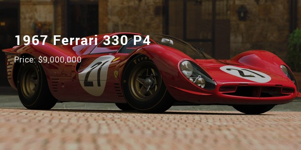 1967 Ferrari 330 P4   $9,000,000