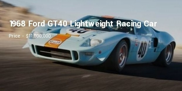 1968 ford gt40 lightweight racing car