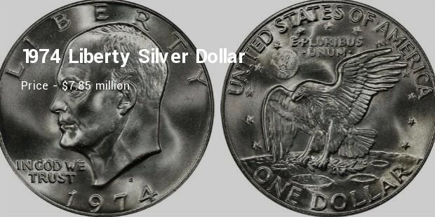 1974 liberty silver dollar