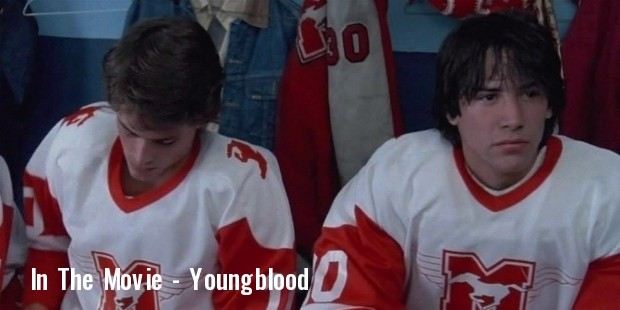 1986 keanu reeves in the movie youngblood