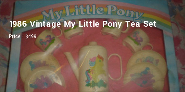 1986 vintage my little pony tea set