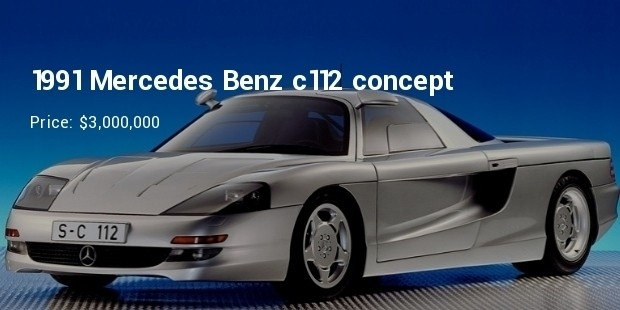 1991 mercedes benz c112 concept   $3,000,000