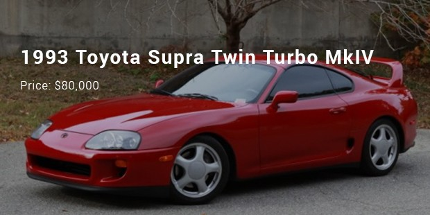 1993 Toyota Supra Twin Turbo Mkiv 80 000