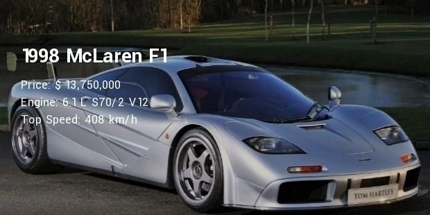 1998 mclaren f1 specs