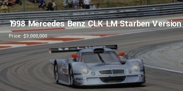 1998 mercedes benz clk lm starben version   $3,000,000