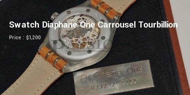 2001 Swatch Diaphane One Carrousel Tourbillion