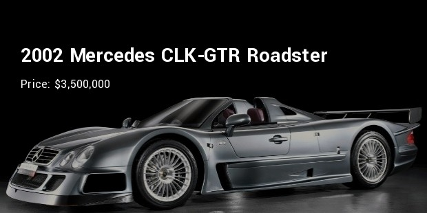 2002 mercedes clk gtr roadster