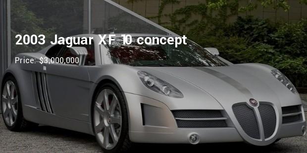 2003 jaguar xf 10 concept   $3,000,000