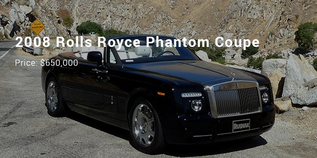 2008 rolls royce phantom coupe