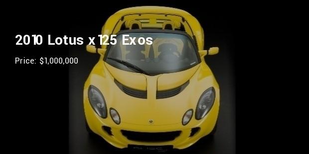 2010 lotus x125 exos   $1,000,000