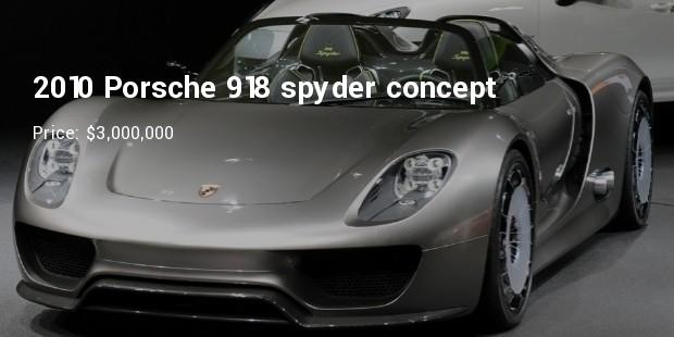 2010 porsche 918 spyder concept   $3,000,000