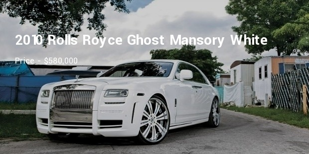 2010 rolls royce ghost mansory white ghost limited