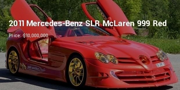 2011 mercedes benz slr mclaren 999 red gold dream   $10,000,000