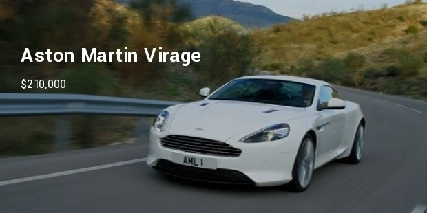 2012 aston martin virage front in motion