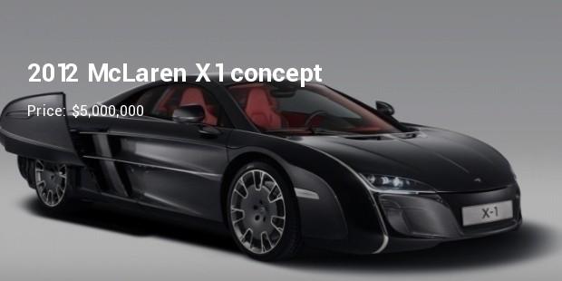 2012 mclaren x1 concept   $5,000,000
