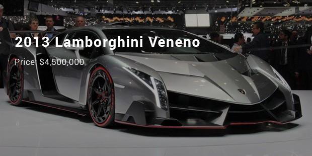 2013 Lamborghini Veneno   $4,500,000