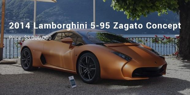 2014 lamborghini 5 95 zagato concept