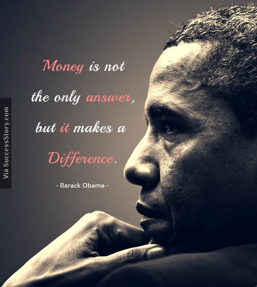 Money is not