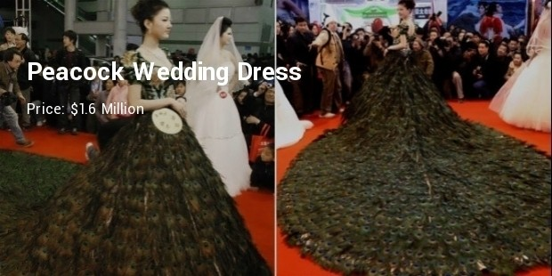 This Notable And Inimitable Work Of Designer Vera Wang Is Made The Peacock Feather Unique Dress Was In 2009 For So High Price That Makes