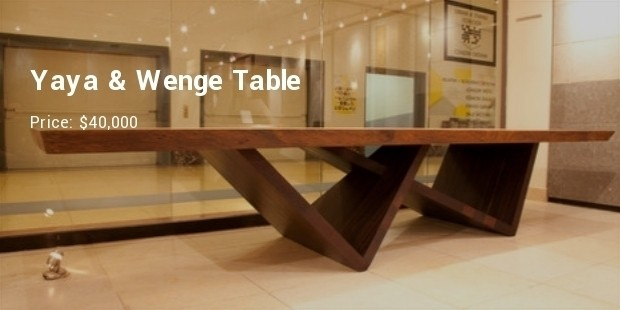 Yaya Wenge Table Is Another Piece From A Pure African Origin The Legs Are Made Using And Top Of