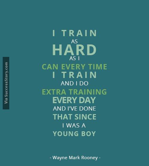 I train as hard