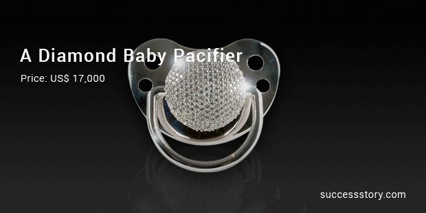 a diamond baby pacifier