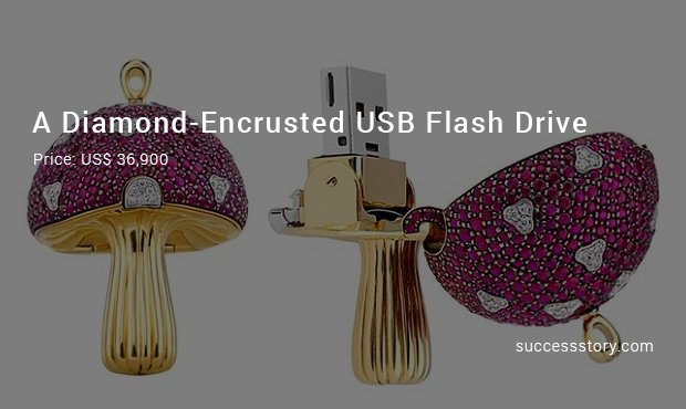 a diamond encrusted usb flash drive