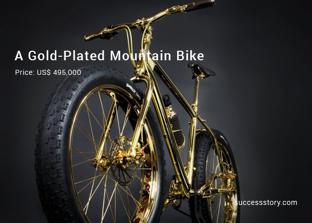a gold plated mountain bike