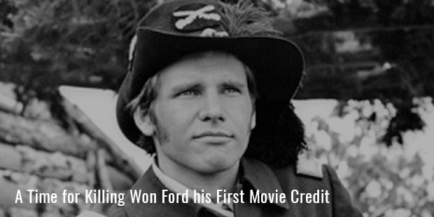 a time for killing won ford his first movie credit