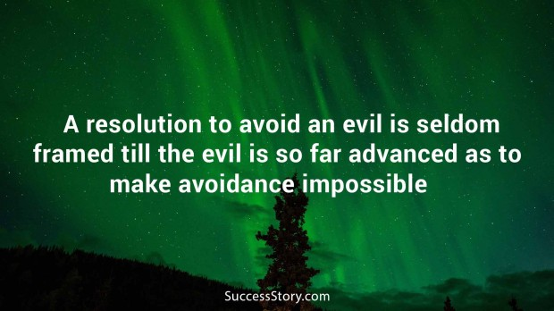 A resolution to avoid an evil