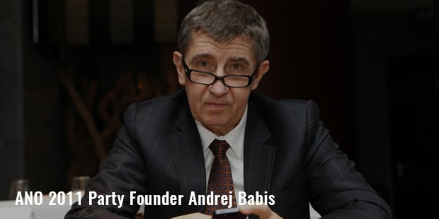 ano 2011 party founder andrej babis