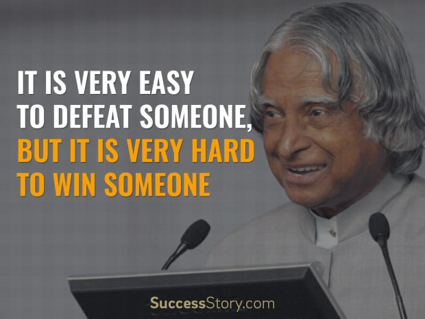 Best Inspirational Quotes By Abdul Kalam: It Is Very Easy To Defeat