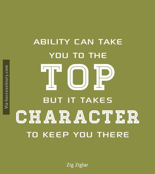 Ability can take you to the top