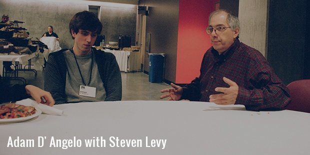 adam d  angelo with steven levy