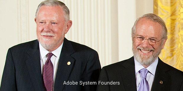 adobe system founder